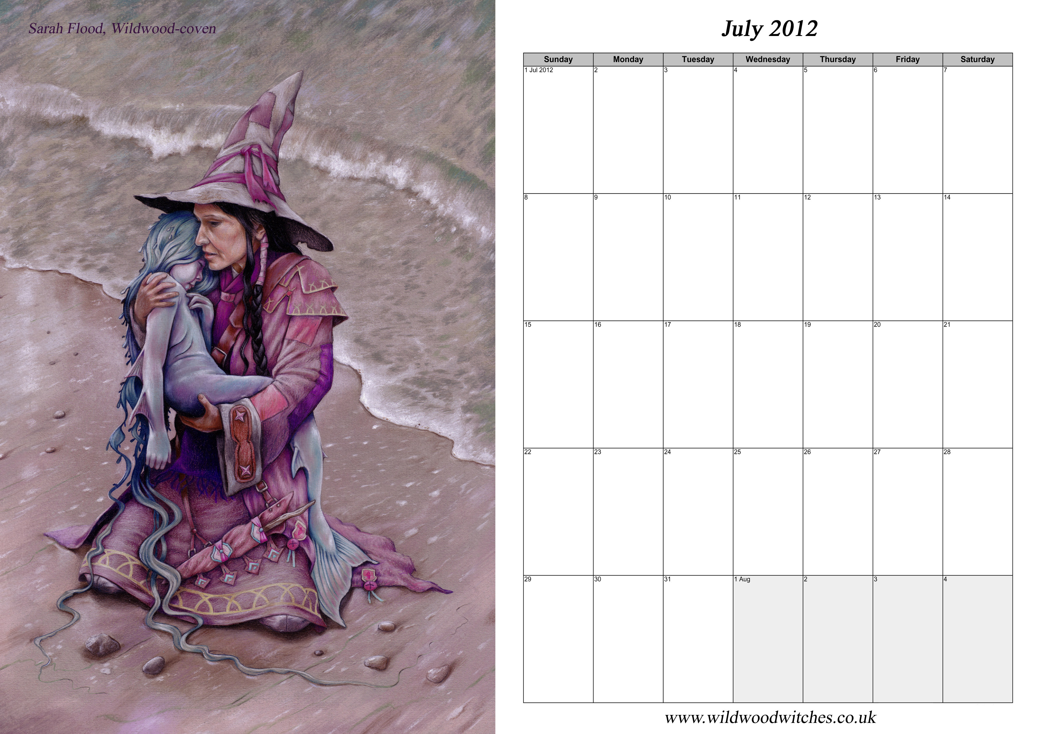 wildwood witches free 2012 calendar