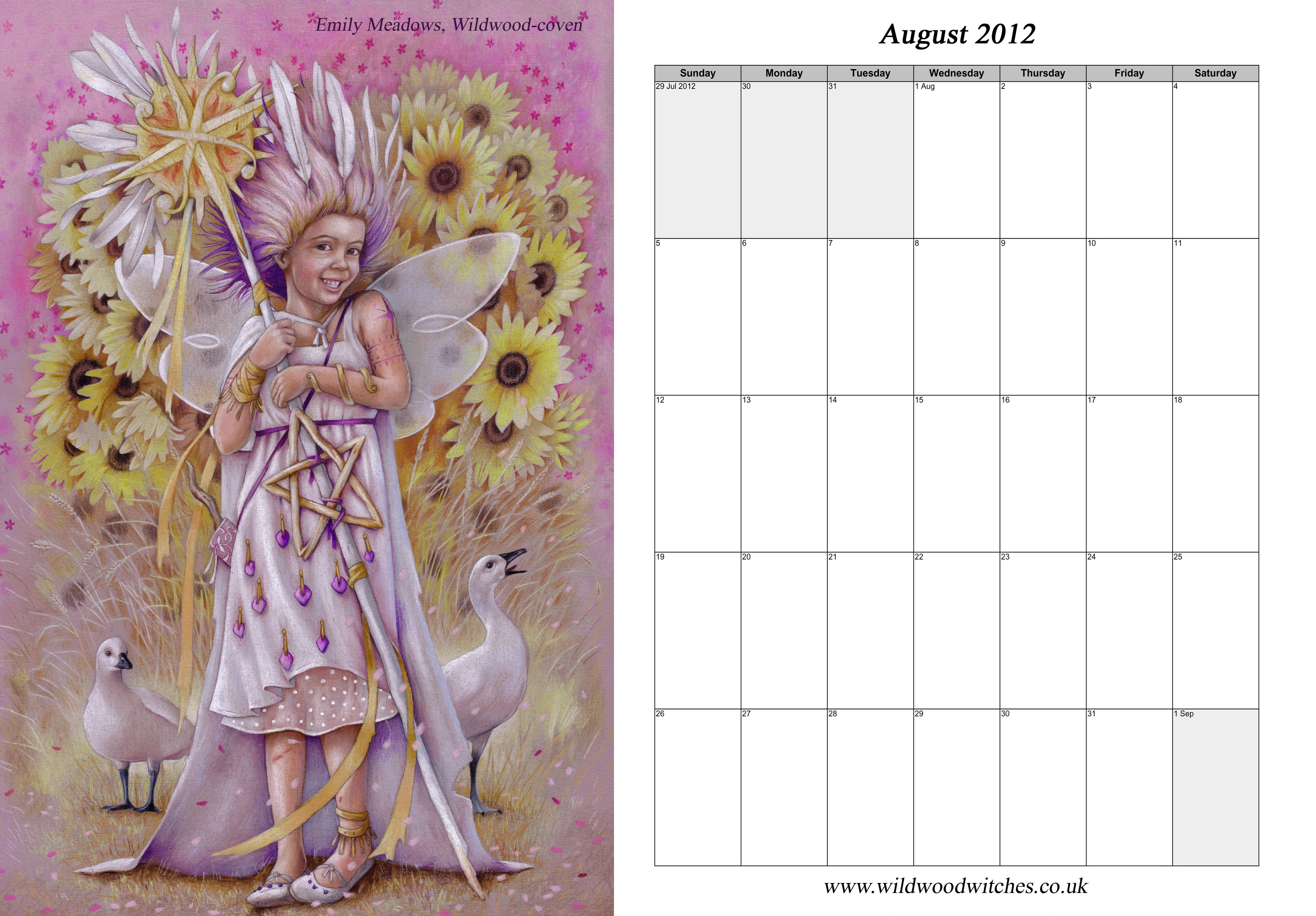 2012+Witches'+Calendar Wildwood Witches :: Free 2012 Calendar